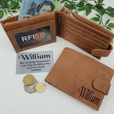 personalised wallets groomsman personalised brown leather wallet rfid free