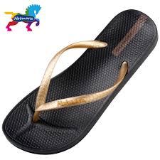 Designer Flip Flops Womens Us 11 99 20 Off Hotmarzz Brand Designer Sandals Flip Flops Women Casual Flat Slippers Solid Color Fashion Beach Slides Women Hm0738 In Flip Flops