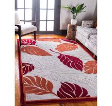 8 x 10 outdoor botanical rug