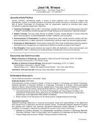 Sample Resume Fresh Graduate Psychology Resume Ixiplay Free