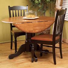 east west furniture dublin round pedestal drop leaf dining table