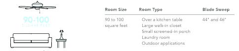 ceiling fans room size chart fan blade sizes ceiling fan size guide ceiling fan room size