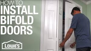 how to install bifold doors