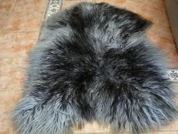 icelandic sheepskin rug grey