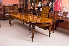 victorian 12ft bespoke handmade burr walnut marquetry dining table 12 chairs