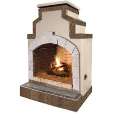 propane gas outdoor fireplace in porcelain tile