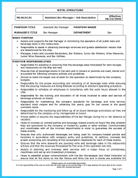 Resume Examples For Project Coordinator Bongdaao Com Bar Manager