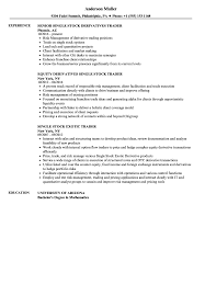 Cool Stock Market Trader Resume Ideas The Best Curriculum Vitae