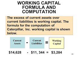 working capital formula and comtion