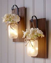 hanging mason jar sconce in 2021