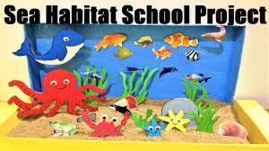 Sea Habitat School Project Diorama Model Aquatic Animals Model Making Easily At Home Howtofunda