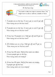 2-step word problems Addition Maths Worksheets For Year 2 (age 6-7)2-step word problems