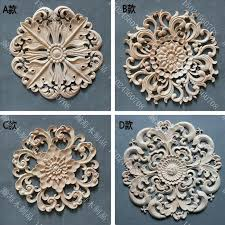 wood appliques for furniture. Furniture Appliques Wooden For Circle Door Decoration Applique Fashion Cabinet Kidney Wood Carved . 5