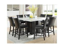 Star Camila 9 Piece Counter Height Dining Set With Marble Top Efo