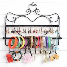 Wrought Iron Art Display Stands Best Jewelry Storage Display Stand Rack Metal Art Wall Mount Heart Shape