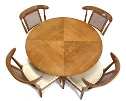 Game Table And Chairs Set Mid Century Modern Bridge Game Table With Four Chairs Set At 1stdibs