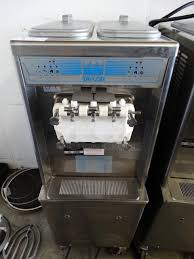 2010 taylor model 794 33 stainless steel commercial floor style air cooled 2 flavor w twist soft serve ice cream machine on commercial casters
