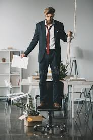 pictures to hang in office. Download Fired Businessman Standing On Chair And Trying To Hang Himself In Office Stock Photo - Pictures