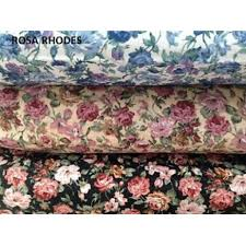 DRESS FABRIC - 100% COTTON - FLORAL WILD GARDEN
