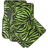 green car floor mats. Product Image OxGord Front \u0026 Back Seat Zebra/Tiger Stripe Carpet Mats For  Car/Truck Green Car Floor Mats