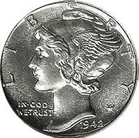 1942 Mercury Dime Value Cointrackers