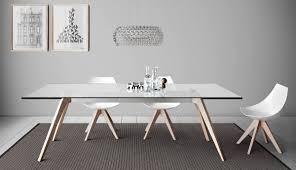 dining table with top made of marble wood or glass  idfdesign