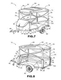 Patent us8439426 reconfigurable travel trailer with removable