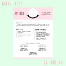 Modern Resume Tumblr Cv Template Tumblr