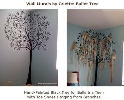 ballet shoes ballet tree mural