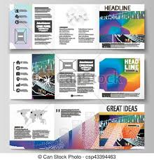 Business Templates For Tri Fold Square Design Brochures Leaflet Cover Vector Layout Colorful Abstract Infographic Background In Minimalist Style