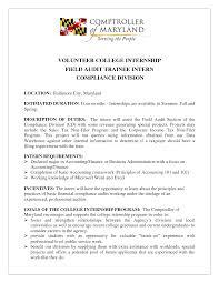 Resume Cover Letter Audit Internship Adriangatton Com
