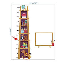 Ladder Height Chart Trojan Toy Funny Height Measure Ladder Wall Sticker For Kids