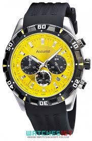 accurist mens ms970yb yellow dial sports chronograph watch accurist mens silicon strap ms970yb chronograph watch yellow dial