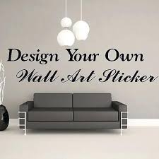 create your own wall decal with design your own personalised custom wall sticker art quote vinyl on design your own wall art stickers uk with create your own wall decal zebragarden me