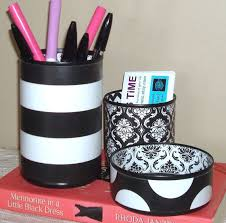 damask office accessories. the best tin can desk accessory set ever pencil holder black and white stripes chevron damask polka dot accessories no 310 office e