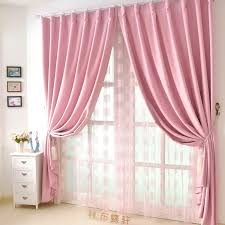 Inspiring Baby Pink Curtains And Pink Bedroom Curtains