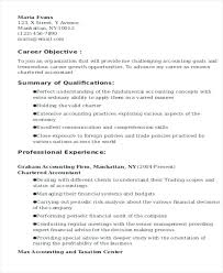 Cpa Resume Objective Resume Objective Accounting Student Resume