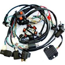 gy stator parts accessories gy6 150cc electrics stator wire loom magneto coil cdi rectifier solenoid harness