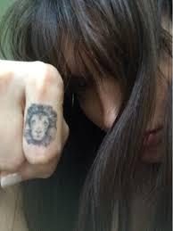 Tatuaggio Temporaneo Di Lion Testa Del Leone Knuckle Etsy