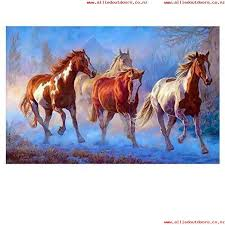 subery subery paintworks diy oil painting paint by number kits for s kids beginner three horses in the snow 16x20 inches without frame from usa