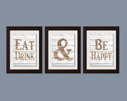 simple quotes in diffe wood framed kitchen wall decor with blue wall