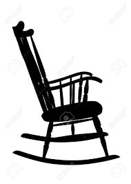 rocking chair silhouette. Rocking Chair Silhouette I