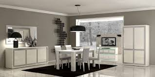 modern dining room cabinets. Two White Round Pendant Lamp Modern Dining Room Set Gray With High Gloss Cabinets G