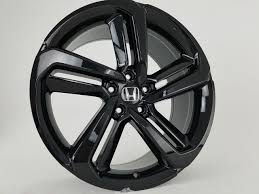 2018 honda accord sport black rims. 19 2018 19 Fits Honda Accord Sport Civic Si Exl Acura Gloss Black Wheels Set Of 4 19x8 5 Rims Stock Wheel Solutions