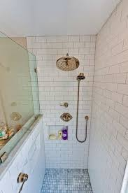 Bathroom Remodeling Charlotte Extraordinary Matte White Subway Tile Shower Hidden Recessed Niches Polished