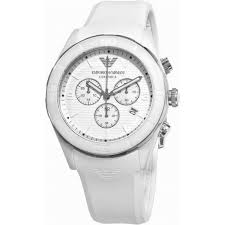 ar1435 armani mens white rubber chronograph watch available at tic armani watches ar1435 white chronograph mens watch