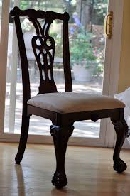 black wood dining chair. Dining Room. Black Wooden Carving Chair With Back Also Cream Seat Placed On Wood