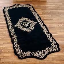 bathroom rug runner black 24 x 72