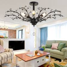 cottage pendant lighting. Tree Branch Pendant Lamps K9 Crystal Chandeliers Nordic Country Style E14 Lamp LED Ceiling Light Chandelier Lighting Fixture Cottage E