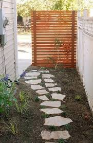 Image Creative Ideas Privacy Screen Alley Exotic Pebbles And Glass Outdoor Privacy Screens Yard Garden Screens Gallery Shop